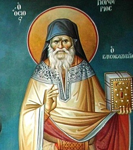 Ο Άγιος Πορφύριος Καυσοκαλυβίτης (κατά κόσμον Ευάγγελος Μπαϊρακτάρης)  (1906-1991)